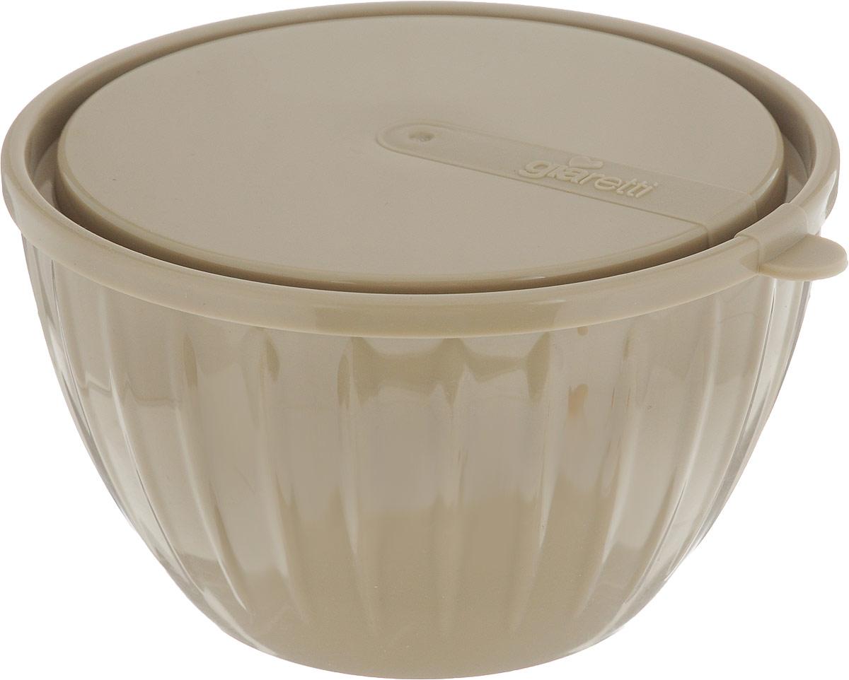 Салатник Giaretti Fiesta, с крышкой, цвет: кофейный, 600 млGR1819_кофейныйСалатник с крышкой Giaretti Fiesta, выполненный из пищевого пластика,прекрасно подойдет как для приготовления еды, так и для подачи блюд на стол.Этот материал поможет ему служить дольше, а оригинальный дизайн в цветеклубничного льда создаст уютную атмосферу на кухне.