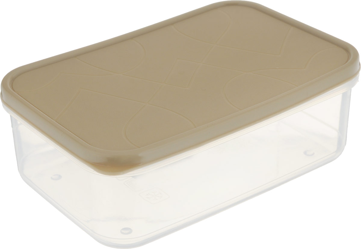 Контейнер для продуктов Giaretti Vitamino, прямоугольный, цвет: бежевый, микс зима, 1 лGR1850_бежевыйКонтейнер для продуктов Giaretti Vitamino, прямоугольный, цвет: бежевый, микс зима, 1 л