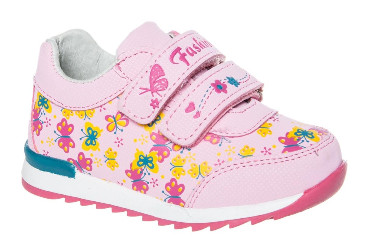 Кроссовки для девочки Счастливый ребенок, цвет: розовый. WH 71001-2. Размер 23WH 71001-2