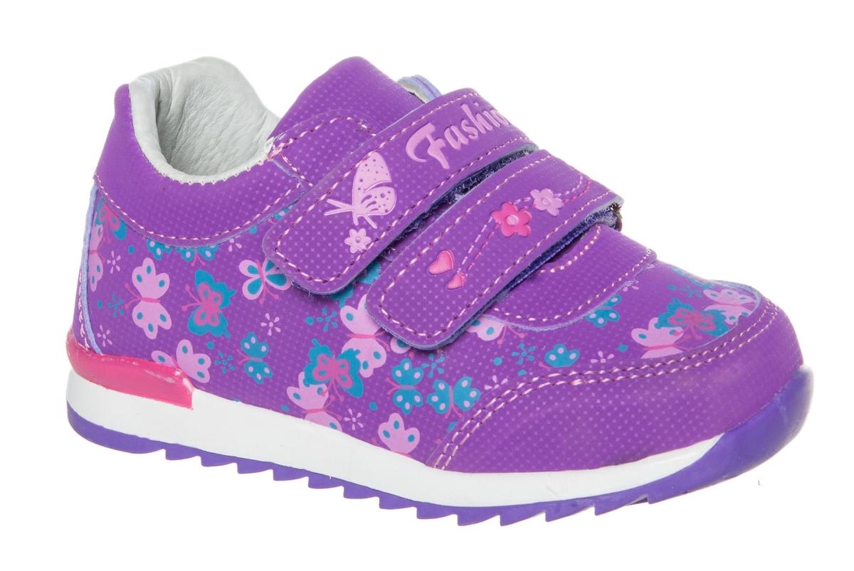 Кроссовки для девочки Счастливый ребенок, цвет: фиолетовый. WH 71001-3. Размер 21WH 71001-3