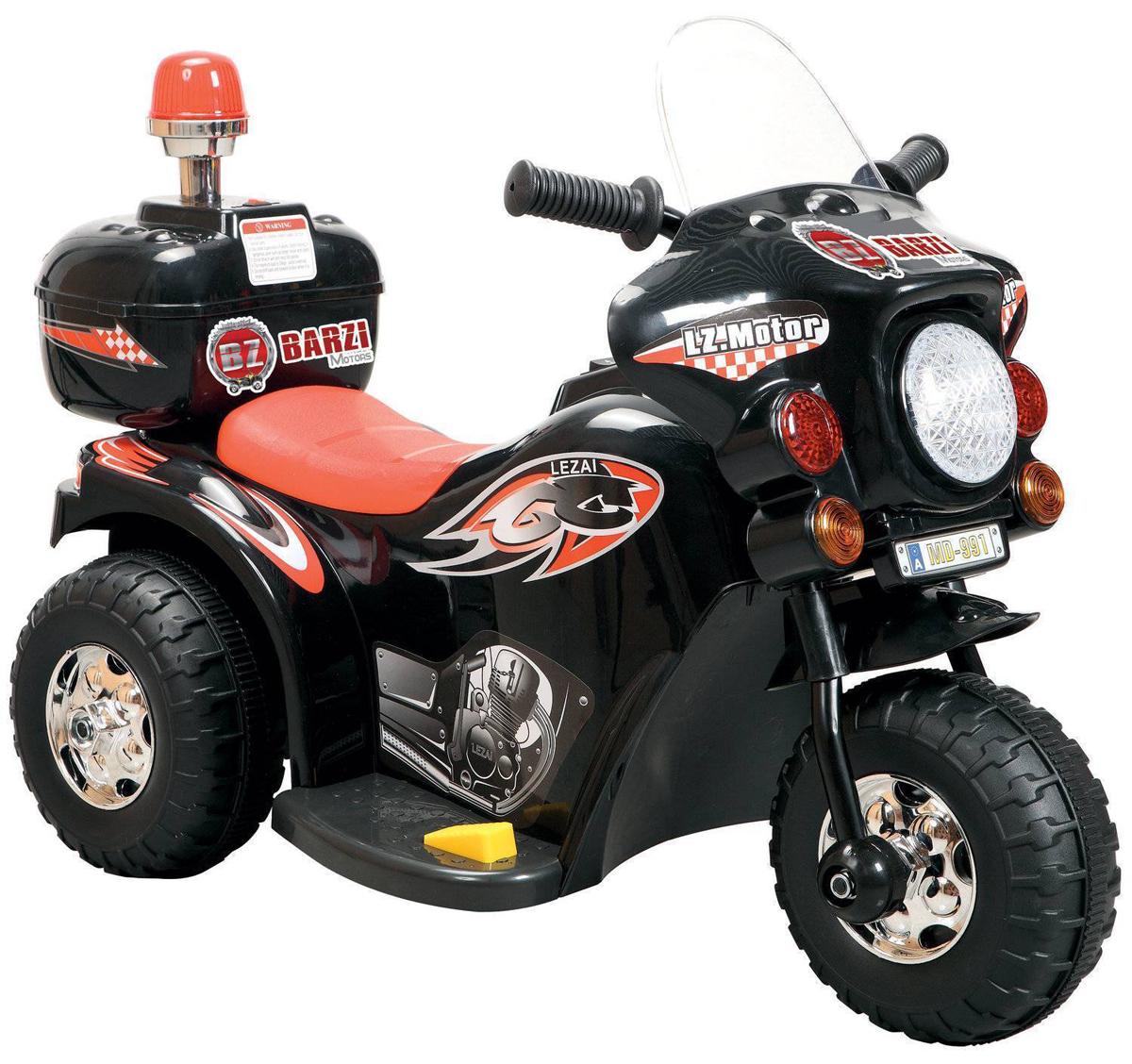 Электромотоцикл с маячком LL-999 цвет черный - Электромобили