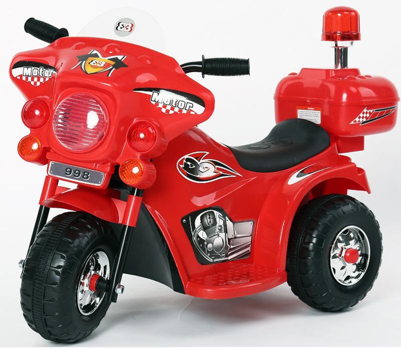 Электромотоцикл с маячком LL-999 цвет красный - Электромобили