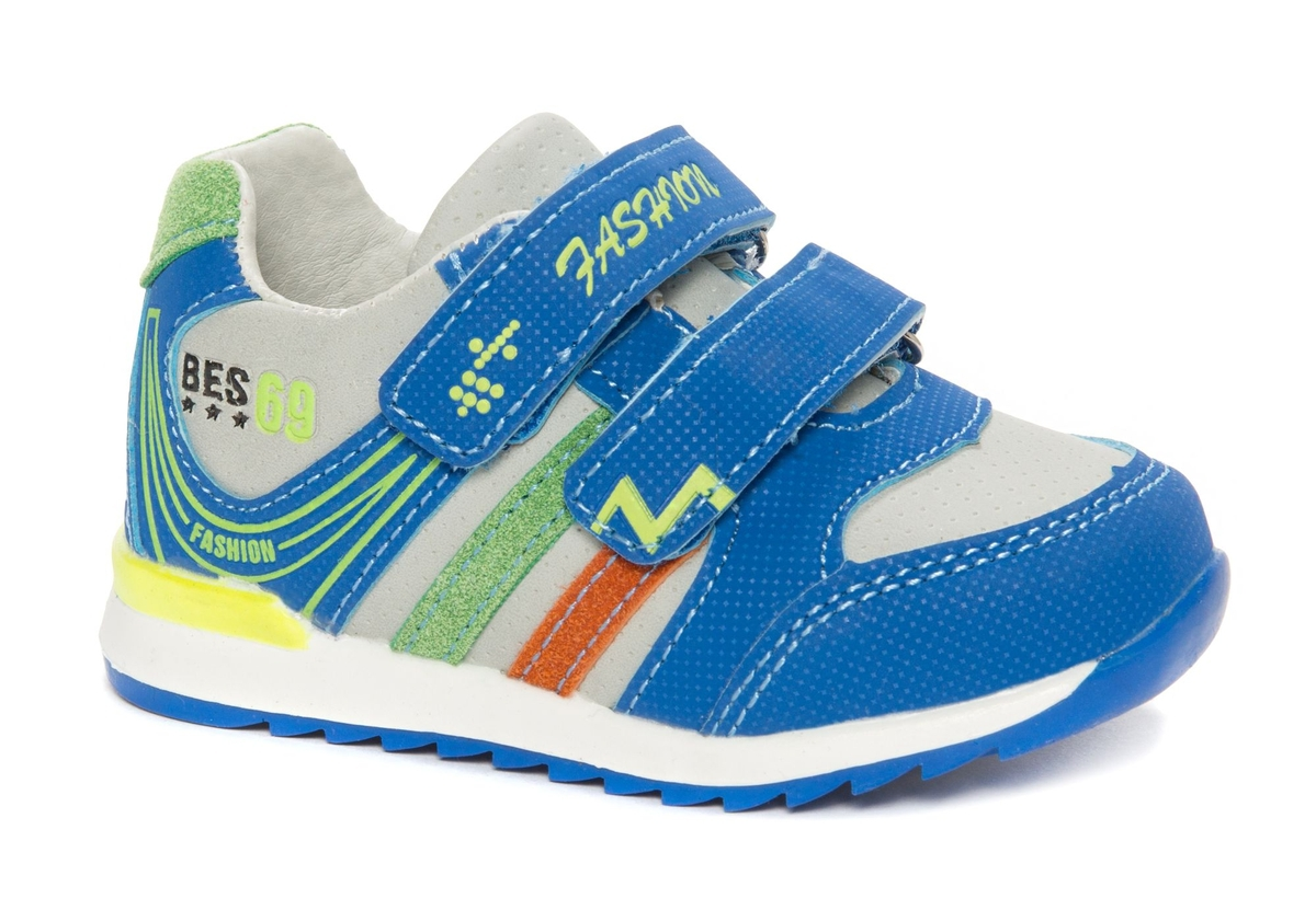 Кроссовки для мальчика Счастливый ребенок, цвет: синий. W 8101-2. Размер 25W 8101-2
