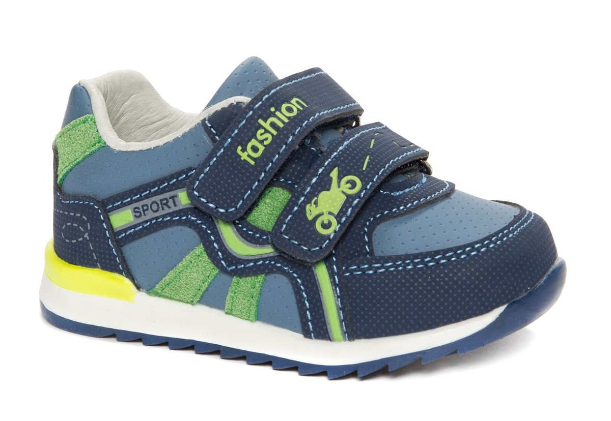 Кроссовки для мальчика Счастливый ребенок, цвет: синий. W 8102-1. Размер 24W 8102-1