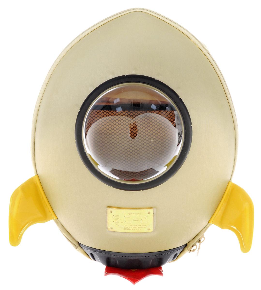 Bradex Рюкзак дошкольный Ракета цвет бежевый самокат детский bradex молния