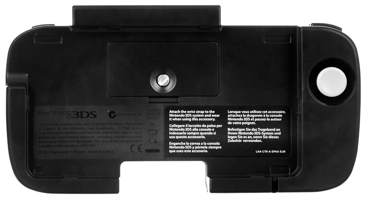 Игровой контроллер Circle Pad Pro (3DS)CTR A ESKA EURПериферийный контроллер Circle Pad Pro создан специально для игровой портативной системы Nintendo 3DS! На первый взгляд он может показаться несколько тяжеловесным - но не спешите с выводами. 480 часов работы и дополнительный стик для контроля над игровыми перемещениями и действиями с лихвой это компенсируют. Компания Nintеndo всегда с трепетом относилась к своим детищам, постоянно предлагая геймерам обновления, новинки и дополнения. Подключение контроллера Circle Pad Pro к консоли дает возможность осматривать местность, более точно прицеливаться и передвигаться. В большинство игр, среди которых Metal Gear Solid 3: Snake Eater 3D, Kid Icarus: Uprising, Monster Hunter Tri G, Kingdom Hearts 10th Anniversary и другие, с таким приспособлением играть намного удобнее и интереснее. Расширьте свои игровые возможности!