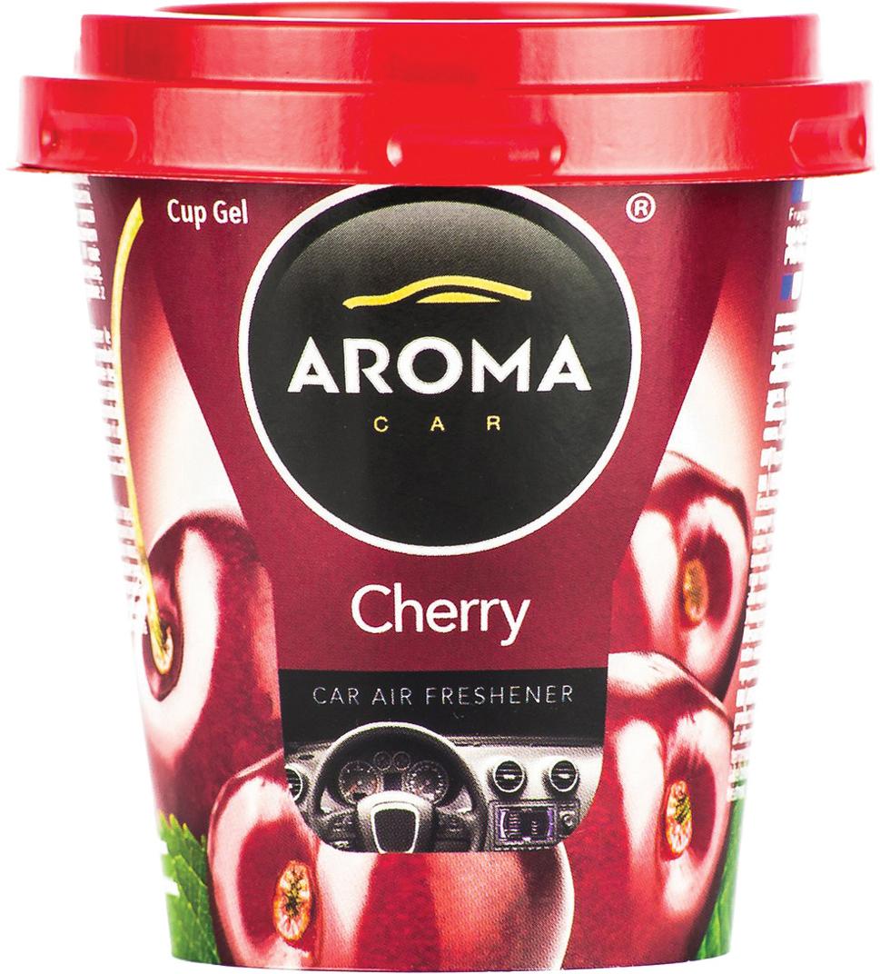 Ароматизатор автомобильный Aroma Car Cup Gel Cherry, на приборную панель. AC9277992779Гелевый ароматизатор. Дизайн яркий, броский. Применим в любых помещениях и салонах автомобилей. Нейтрализует неприятные запахи и придает воздуху свежесть и аромат. Ароматическая основа с добавлением натуральных масел, французских отдушек.