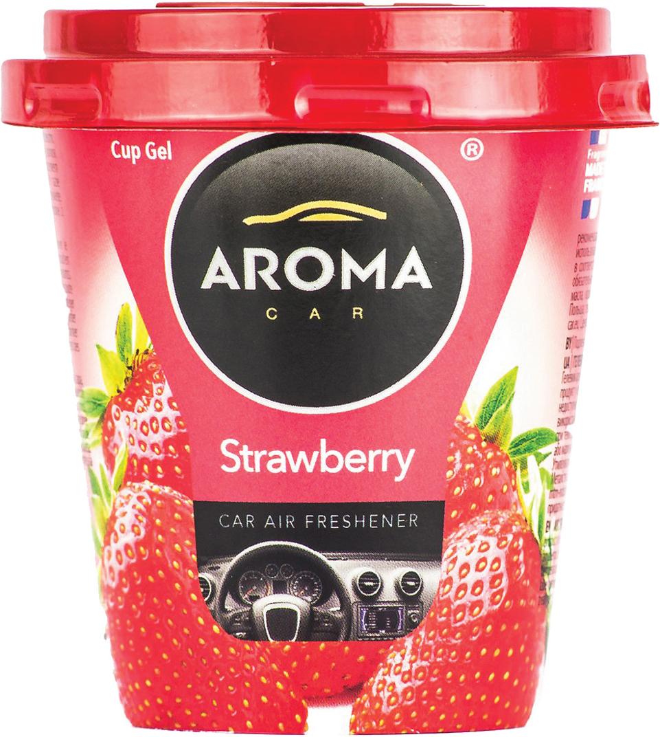 Ароматизатор автомобильный Aroma Car Cup Gel Strawberry, на приборную панель. AC9278192781Гелевый ароматизатор. Дизайн яркий, броский. Применим в любых помещениях и салонах автомобилей. Нейтрализует неприятные запахи и придает воздуху свежесть и аромат. Ароматическая основа с добавлением натуральных масел, французских отдушек.