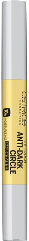 Catrice Консилер от темных кругов Re-Touch Anti-Dark Circle Concealer, 020 Yellow, 16 г225484Три цвета для идеального тона. Жидкий консилер в трех оттенках со средней плотностью покрытия призван скорректировать все несовершенства кожи: темные круги, покраснения, неровности. Стойкая формула с увлажняющими компонентами держится на коже до 18 часов.
