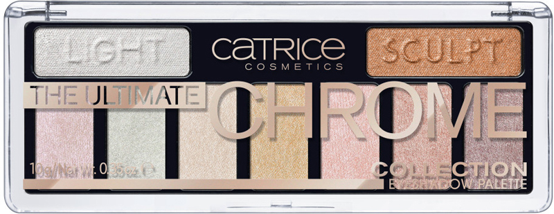 Catrice Палетка теней для век The Ultimate Chrome Collection Eyeshadow Palette, 010 Heights And Lights, 10 г sephora collection vintage filter палетка теней vintage filter палетка теней