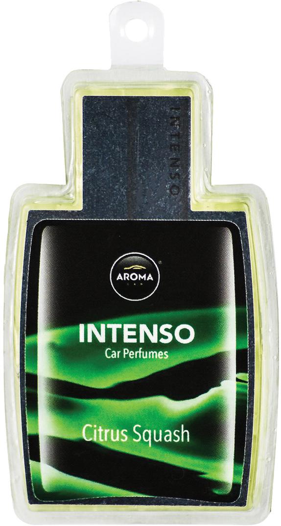 Ароматизатор автомобильный Aroma Car Intenso Perfume Citrus Squash, подвесной. AC9217392173Подвесной гелевый ароматизатор с ароматом французского парфюма.Гель на основе силиконовой технологии дает более интенсивный и долгоиграющий аромат.Использованы натуральные французские отдушки.