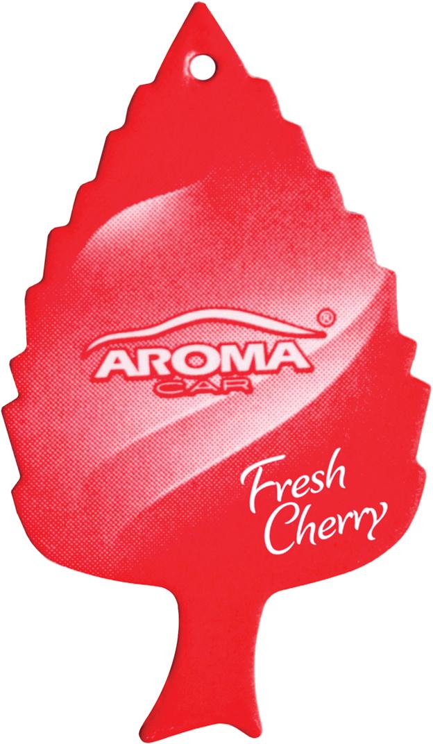 Ароматизатор автомобильный Aroma Car Leaf Fresh Cherry, подвесной. AC9221592215Классическая популярная форма листика - неизменный хит продаж, деликатный аромат идеально подойдет в салон любого автомобиляБумажный освежитель, содержащий специально подобранные хлопчатобумажные волокнаУпаковка: картонный топ+ПП пакет