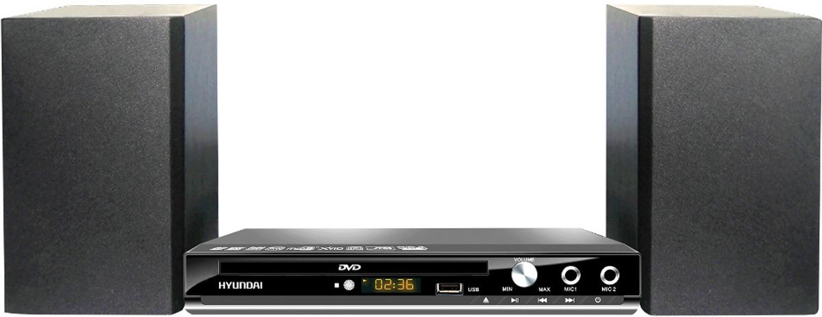 Hyundai H-MS100 музыкальный центрH-MS100Микросистема Hyundai H-MS100 черный 12Вт/CD/CDRW/DVD/DVDRW/FM/USB/SD/MMC/MS