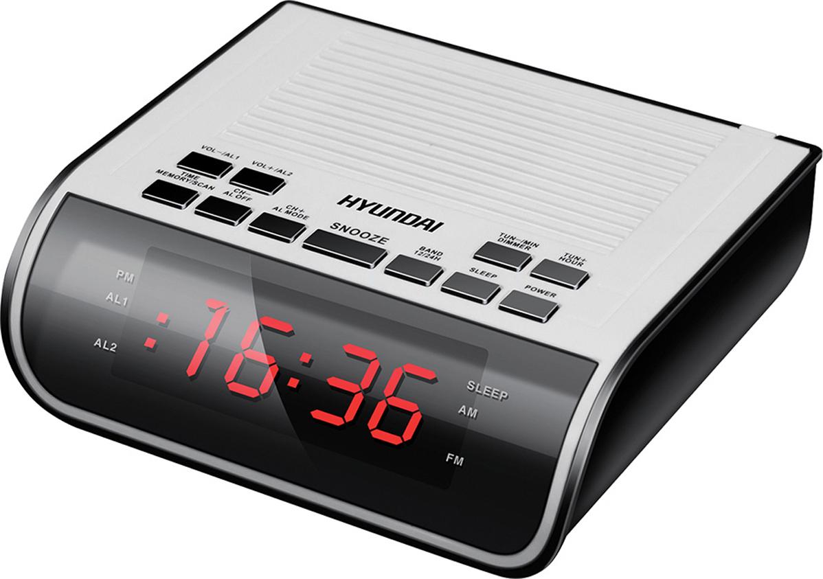 Hyundai H-RCL100 радио-будильникH-RCL100Радиобудильник Hyundai H-RCL100 LED подсв:красная часы:цифровые FM