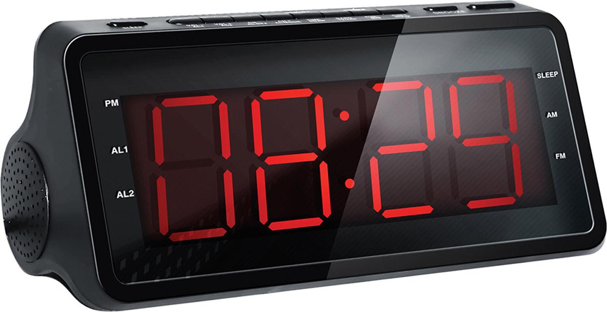 Hyundai H-RCL140 радио-будильник радиобудильник rolsen rfm 300 венге 1 rldb rfm 300