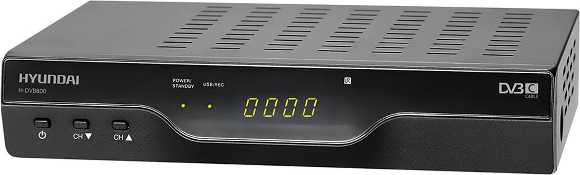 Hyundai H-DVB800 ТВ ресивер DVB-CH-DVB800Ресивер DVB-C Hyundai H-DVB800 черный