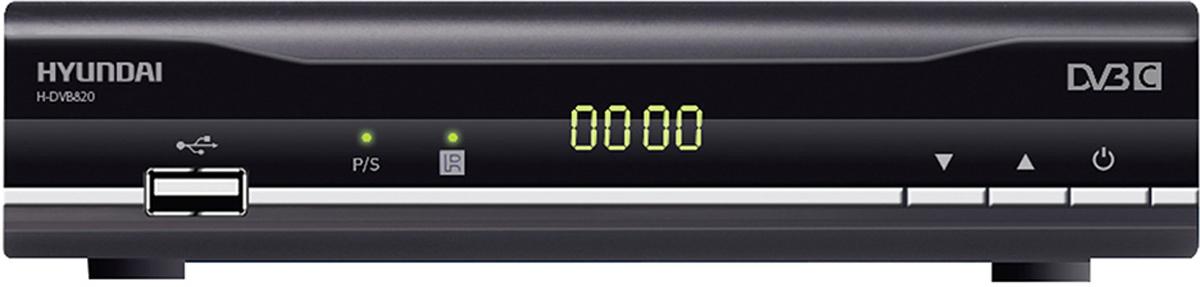 Hyundai H-DVB820 ТВ ресивер DVB-CH-DVB820Ресивер DVB-C Hyundai H-DVB820 черный