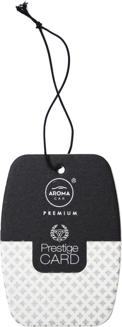 Ароматизатор автомобильный Aroma Car Prestige Card Silver, подвесной. AC9266592665Картонный освежитель с ароматом французского парфюма (высококачественных мужских духов), выполнен в минималистичном дизайне. Упаковка - картонный подвес.