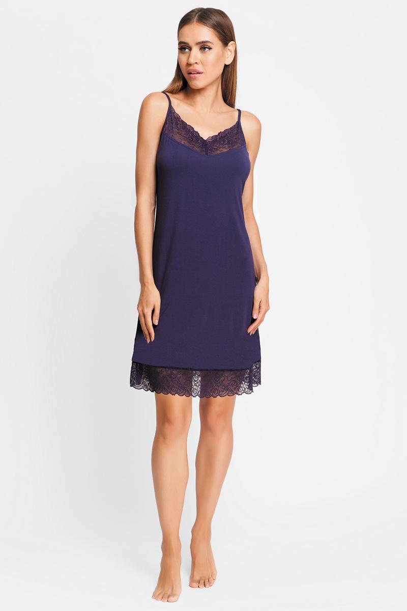 Ночная рубашка женская Vis-A-Vis, цвет: темно-синий. LS2246-1. Размер XS (42) подсвечник бейзик 170мм 1092209