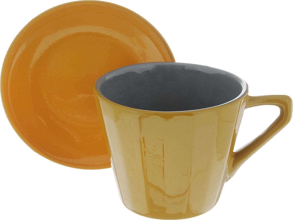 Чайная пара Борисовская керамика Ностальгия, цвет: горчичный, желтый, 200 млРАД14458002_горчичный, желтыйЧайная пара Борисовская керамика Ностальгия состоит из чашки и блюдца,изготовленных из высококачественной керамики. Такой набор украсит вашкухонный стол,а также станет замечательным подарком к любому празднику.Можно использовать в микроволновой печи и духовке. Диаметр чашки (по верхнему краю): 8 см. Высота чашки: 6,5 см. Диаметр блюдца (по верхнему краю): 10 см. Высота блюдца: 2 см. Объем чашки: 200 мл.