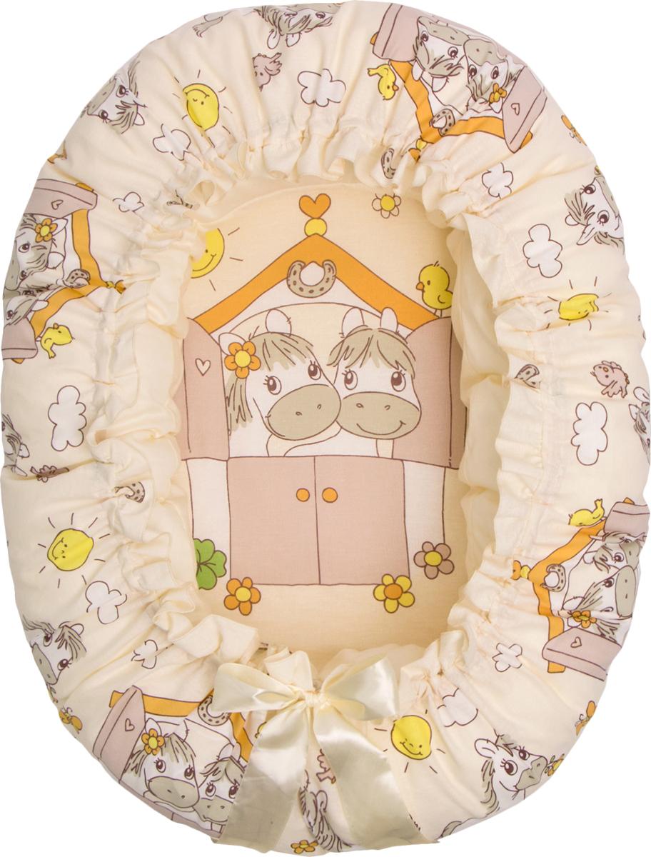 """Подушка- валик """"4-в 1"""" предназначена для будущей мамы и малыша. Она легко трансформируется из подушки для беременных в уютное """"гнездышко"""" для малютки до 3 месяцев. Валик может использоваться как подушка для кормления новорожденного, а чехол - как мешок для аксессуаров или игрушек. Подушка выполнена из сатина (100% хлопок), с гипоаллергенным наполнителем (волокна комфорель). Ее форма, умеренная жесткость и размер подойдут для удобного сна будущей мамы. Дальнейшее использование изделия для ребенка тоже безопасно и комфортно. Основание гнездышка (мешок) выполнено из хлопка (бязь) с милым детским рисунком, а вставка-матрасик из полиуретана создаст комфортное засыпание малыша. Атласная ленточка, затянет гнездышко под нужный размер, а бантик завершит милый образ. Это единственная модель на рынке имеющая многофункционал. С данным рисунком на ткани, можно приобрести комплект в детскую кроватку из 7 предметов, что сделает интерьер комнаты малыша более гармоничным и наполненным. Подушка 200х20, Простыня гнездо 57х83х28, наволочка сатин 225х23, вставкка: полиуретан 35х60, ткань -100% хлопок, наполнитель комфорель (волокно п/э)"""