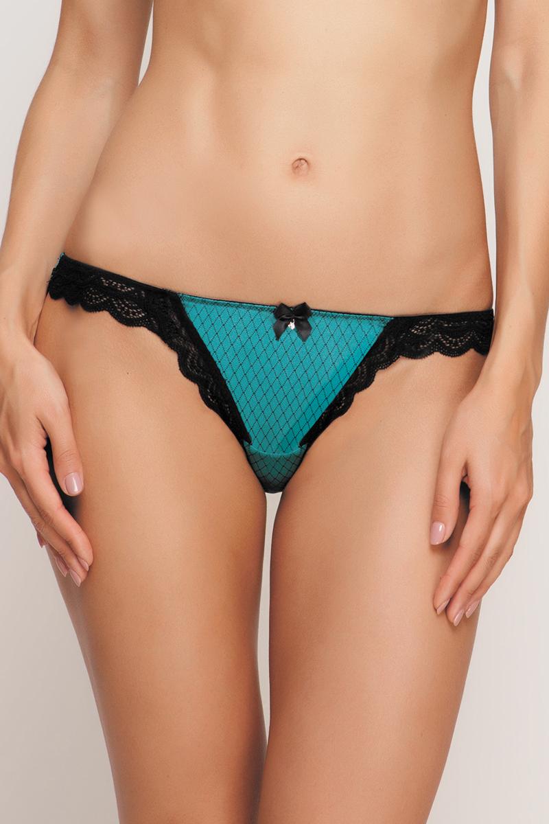 Трусы-бразильяна женские Vis-A-Vis, цвет: бирюзовый. DSL0859. Размер XS (42) трусы бразильяна женские vis a vis цвет бежевый dsl1227 размер s 44