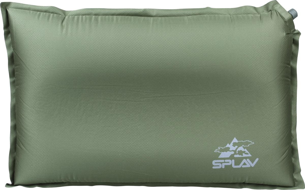 Подушка для туризма  Сплав , самонадувная, цвет: оливковый. 5109996 - Подушки