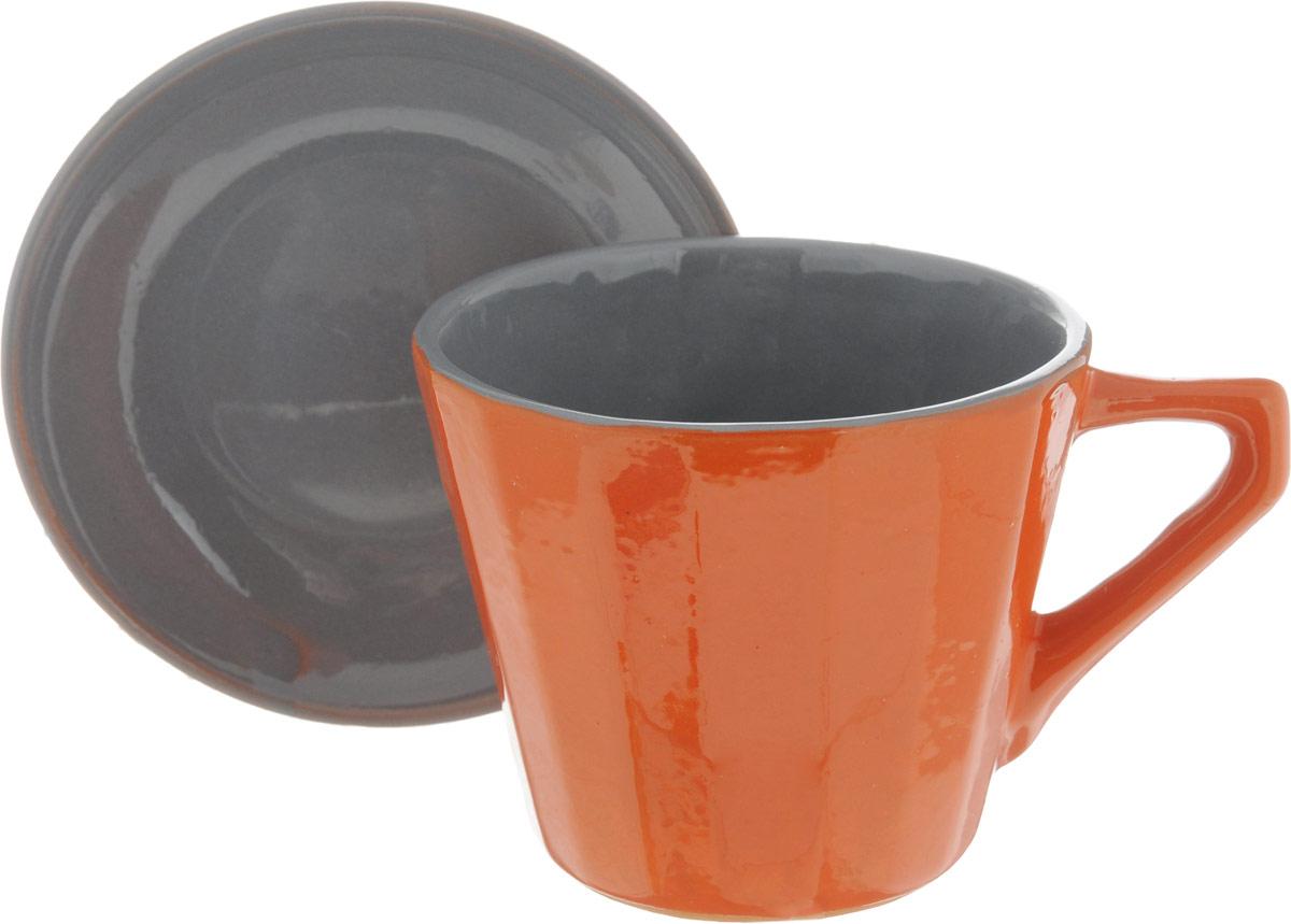 Чайная пара Борисовская керамика Ностальгия, цвет: оранжевый, серый, 200 млРАД14458002_оранжевый, серыйЧайная пара Борисовская керамика Ностальгия состоит из чашки и блюдца,изготовленных из высококачественной керамики. Такой набор украсит вашкухонный стол,а также станет замечательным подарком к любому празднику.Можно использовать в микроволновой печи и духовке. Диаметр чашки (по верхнему краю): 8 см. Высота чашки: 6,5 см. Диаметр блюдца (по верхнему краю): 10 см. Высота блюдца: 2 см. Объем чашки: 200 мл.
