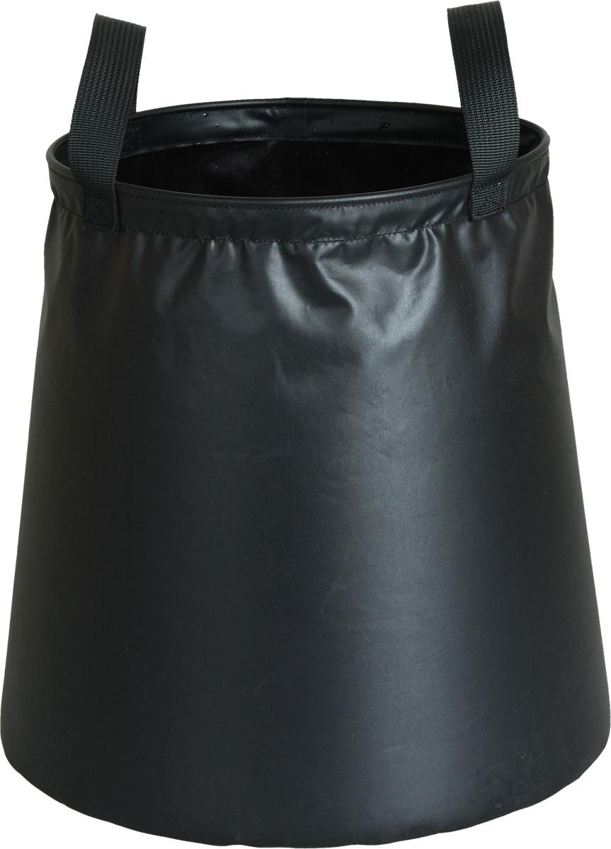 Ведро походное Сплав, цвет: черный, 8 л5041640Ведро походное Сплав незаменимо для транспортировки жидкости на стоянках. Компактный размер в сложенном виде при переноске в рюкзаке. Для удобства использования, ручки сделаны из плотной стропы. По верхнему периметру добавлено усиливающее кольцо, способствующее устойчивости ведра на неровных поверхностях.