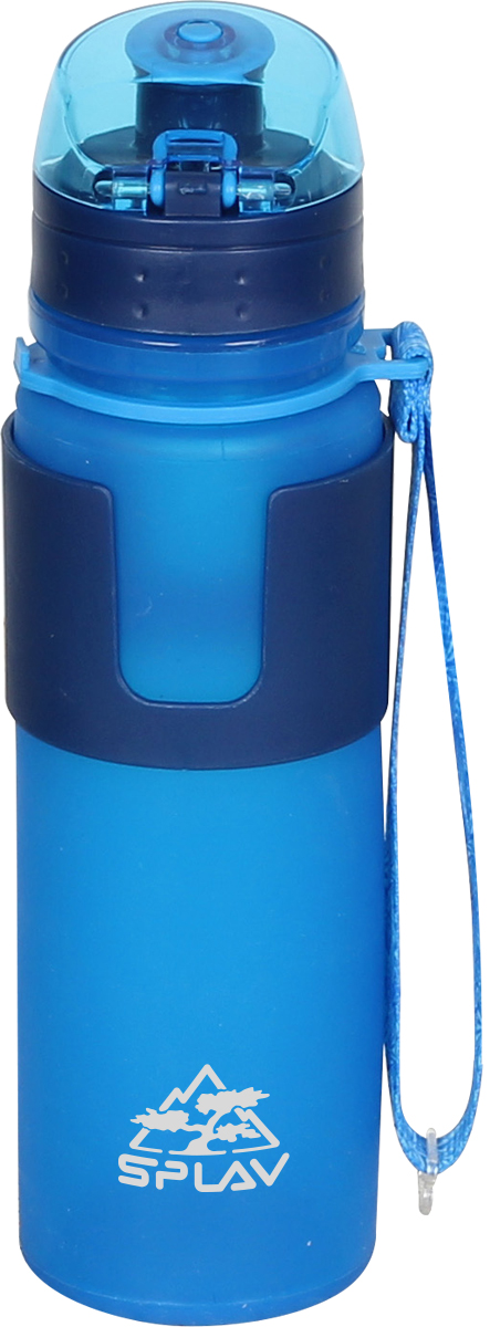 Фляга Сплав, цвет: синий, 0,5 л. ZR K-5005069460Легкая и компактная питьевая фляга выполнена из современного материала Platinum Silicone и пластика. Складная конструкция позволяет скручивать флягу для удобной транспортировки и экономии места, а полупрозрачный корпус покажет уровень наполненности содержимого. Ударопрочная герметичная крышка имеет фиксацию и откидной механизм - это позволяет использовать флягу одной рукой. Стильный ремешок выполняет двойную функцию: им можно пользоваться для переноски + служит фиксатором фляги в свернутом состоянии. Колба фляги устойчива к сминаниям и допускает механические воздействия. Фляга предназначена только для хранения воды и pH нейтральных жидких пищевых продуктов комнатной температуры! Не предназначена для хранения алкогольных напитков, а также продуктов с высокой кислотностью (фанта, соки и т.д.). Необходимо беречь флягу от острых предметов, не помещайте в микроволновую печь, не используйте вблизи открытого огня, берегите от длительного термического воздействия солнечных лучей, не мойте металлической щеткой и абразивными чистящими средствами.