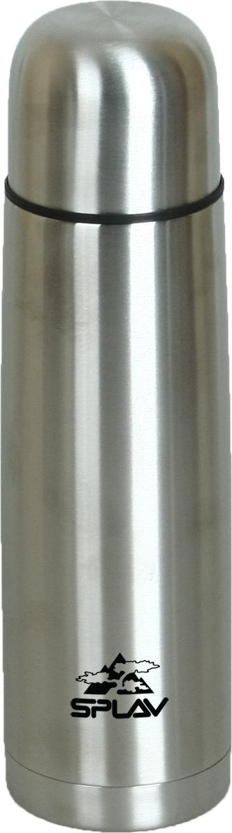 Термос Сплав, цвет: серый металлик, 0,8 л. SB-8005078294Небьющийся термос для напитков с двойными стенками и вакуумной изоляцией выполнен из нержавеющей стали. Резьбовая крышка со специальным желобом, позволяющая выливать содержимое, не отвинчивая крышку полностью. Крышка-чашка. Лёгкий и удобный в переноске.