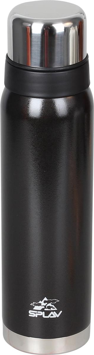 Термос Сплав, цвет: темно-серый, 0,9 л. SF-9005083440Небьющийся термос для напитков с двойными стенками и вакуумной изоляцией выполнен из нержавеющей стали. Резьбовая крышка-клапан со специальным желобом, позволяет выливать содержимое, не отвинчивая крышку полностью. Поверх основной крышки накручивается крышка-чашка, что позволяет использовать её, не открывая термос. Лёгкий и удобный в переноске.