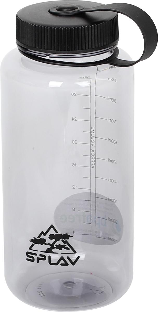 Фляга Сплав, цвет: прозрачный, 1 л. TR-10005083640Фляга Сплав выполнена из тритана. В комплекте съемная пластиковая вставка для удобного питья без расплескивания через широкую горловину. Вставка имеет зарешеченную прорезь для выхода жидкости и петлю для ухватывания пальцами при извлечении.
