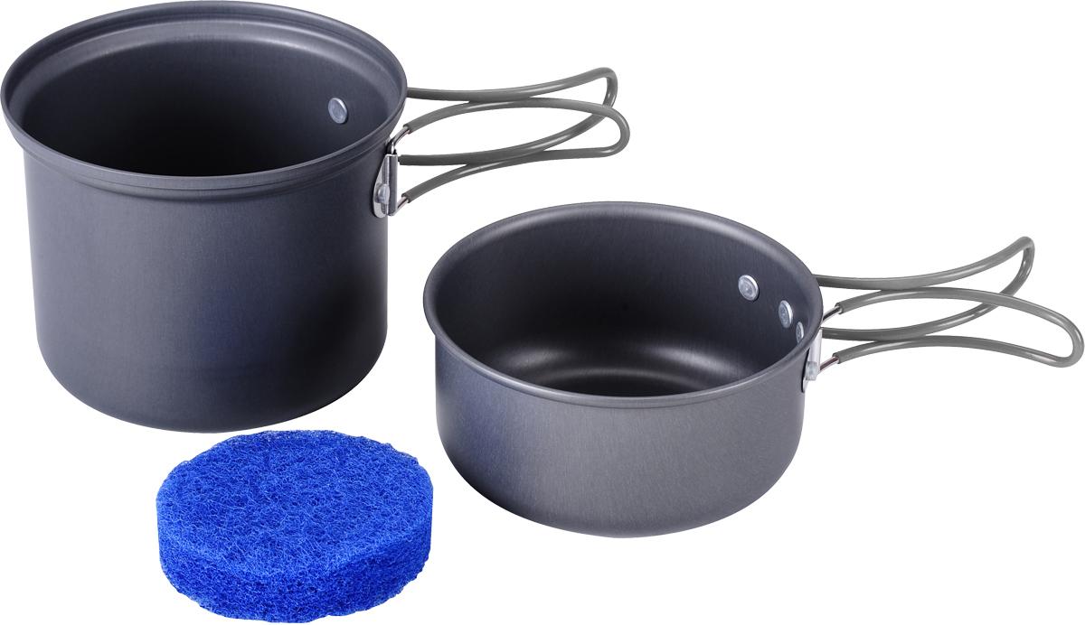 Набор походной посуды Сплав, цвет: темно-серый, 3 предмета