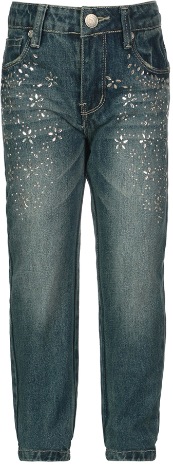 Джинсы для девочки Oldos Моника, цвет: синий. 6O8JN12-2. Размер 146, 11,5 лет6O8JN12-2Стильные джинсы OLDOS изготовлены из хлопка. Джинсы хорошо садятся по фигуре. Пояс на пуговице, внутренняя утяжка пояса перфорированной резинкой, шлевки для ремня, гульфик на молнии. Модель спереди дополнена двумя карманами и одним маленьким кармашком, а сзади - двумя накладными карманами. Джинсы декорированы стразами.