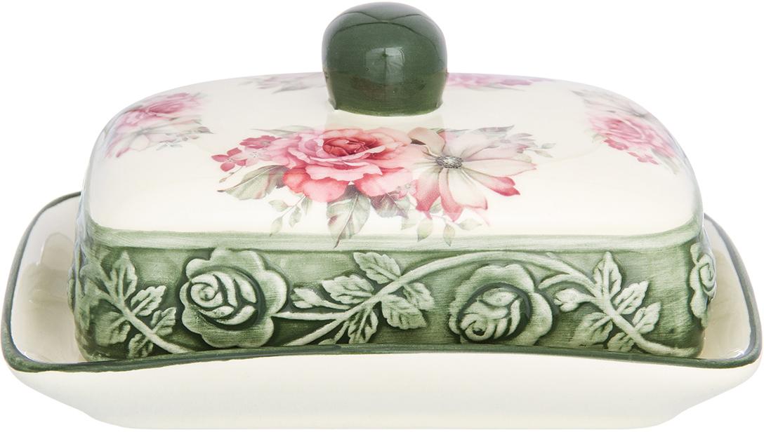 Масленка Elan Gallery Розы, 9 х 12,7 х 17,3 см720134Масленка Elan Gallery выполнена и специально предназначена для хранения масла. Она сохранит его натуральный запах и насыщенный вкус при хранении в холодильнике. А на столе будет смотреться просто замечательно!