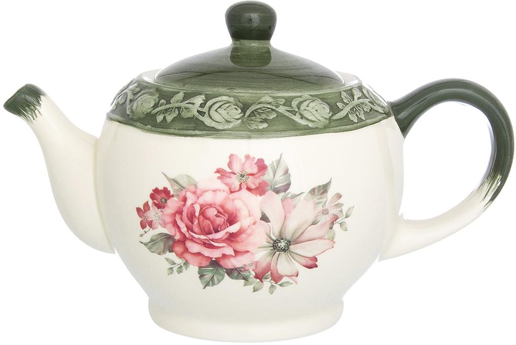 Чайник заварочный Elan Gallery Розы, 950 мл чайники заварочные elan gallery чайник белые розы