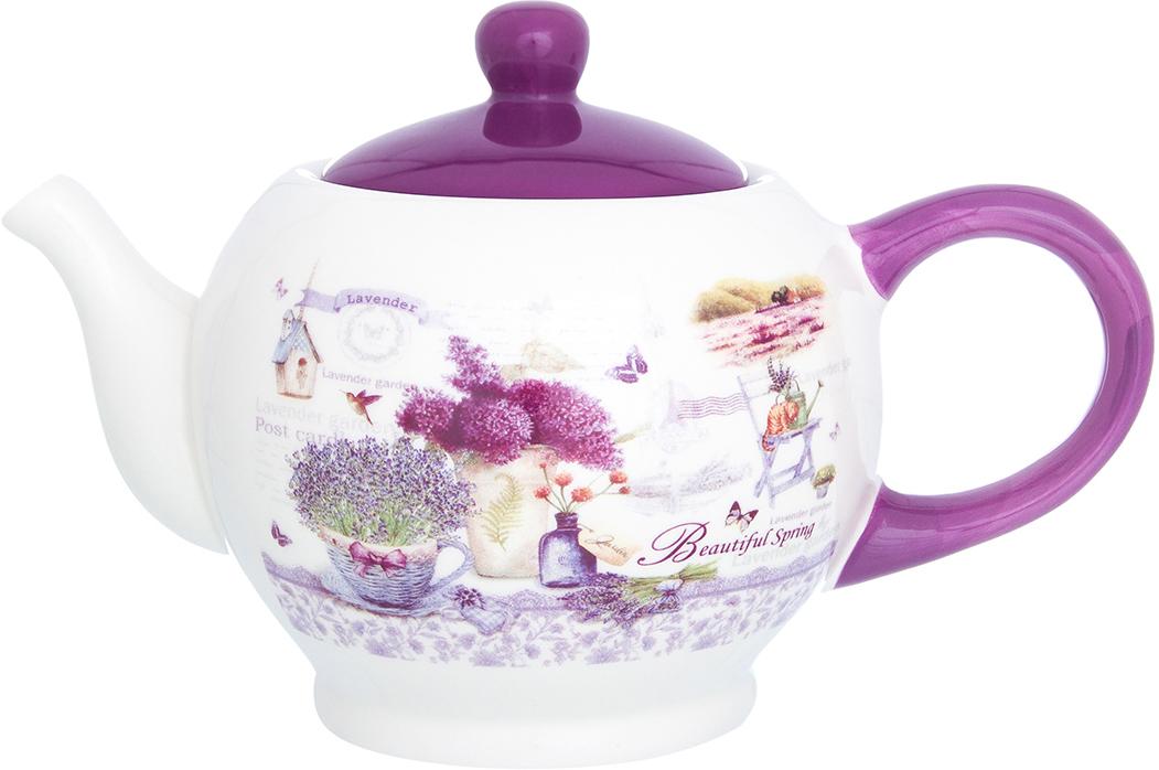 Чайник заварочный Elan Gallery Лаванда, цвет: белый, сиреневый, 950 мл720197Удобный и красивый чайник, несомненно, украсит собой домашнюю коллекцию посуды и станет прекрасным подарком любой хозяйке.