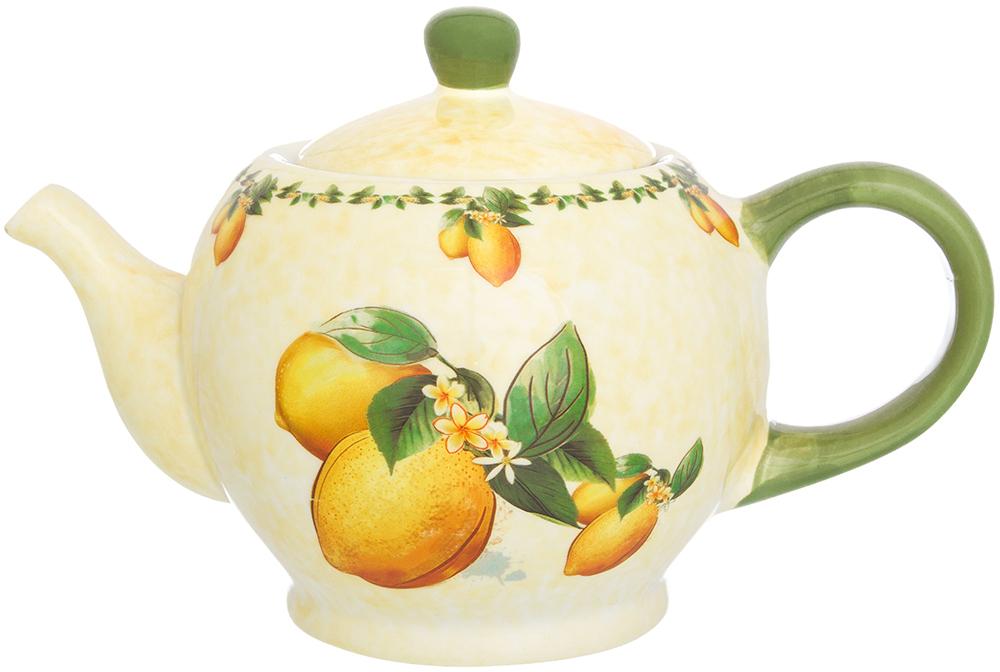 Чайник заварочный Elan Gallery Лимоны, 950 мл720199Удобный и красивый чайник, несомненно, украсит собой домашнюю коллекцию посуды и станет прекрасным подарком любой хозяйке.
