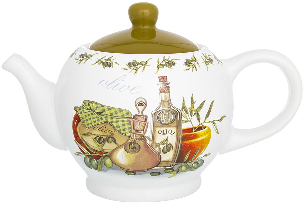Чайник заварочный Elan Gallery Оливковое масло, 950 мл720201Удобный и красивый чайник, несомненно, украсит собой домашнюю коллекцию посуды и станет прекрасным подарком любой хозяйке.