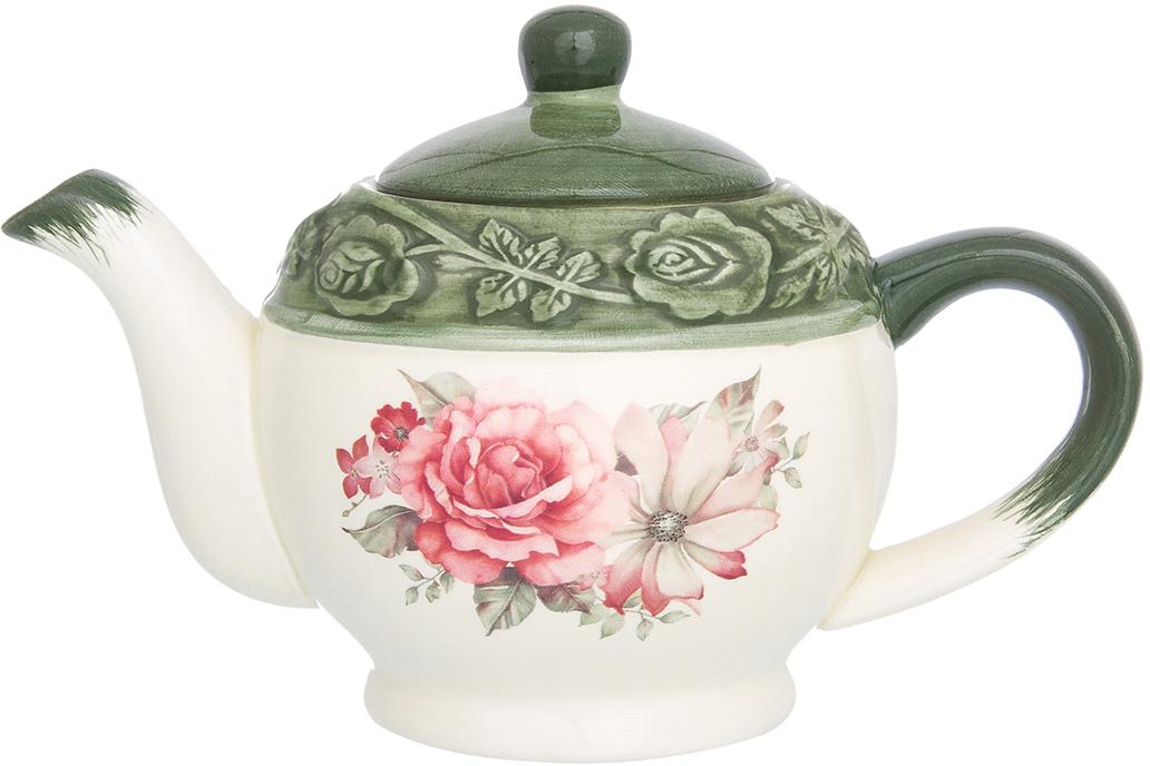 Чайник заварочный Elan Gallery Розы, 400 мл чайники заварочные elan gallery чайник белые розы