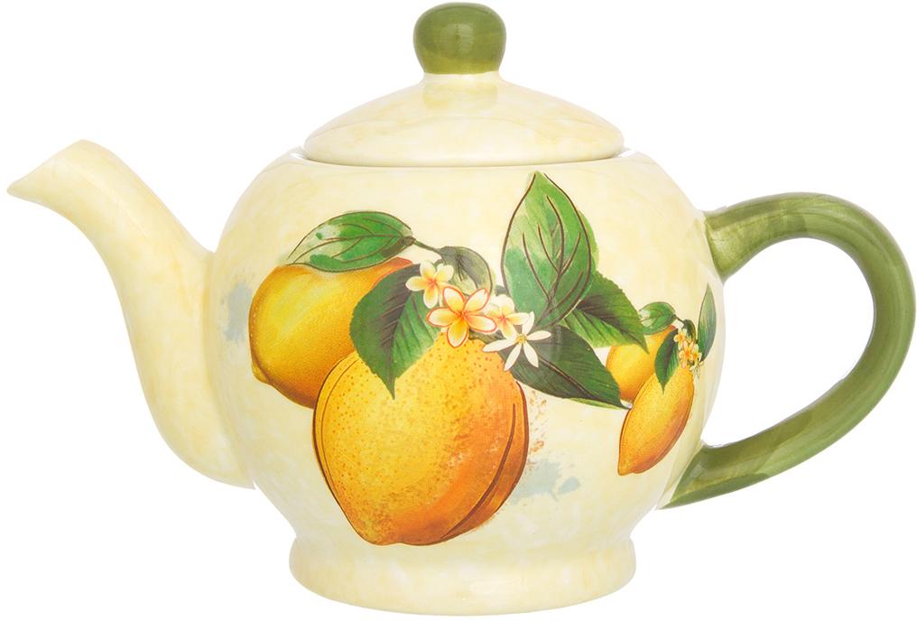 Чайник заварочный Elan Gallery Лимоны, 400 мл чайники заварочные elan gallery сувенир чайник звездная ночь