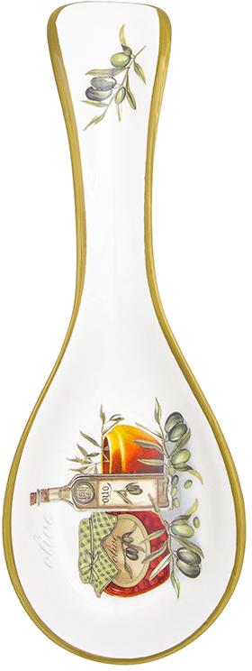 Подставка под ложку Elan Gallery Оливковое масло, 24,7 х 9 х 2,5 см720213Подставка под ложку - очень удобный и полезный аксессуар на Вашей кухне. Защитит столешницу или другую поверхность от загрязнений.