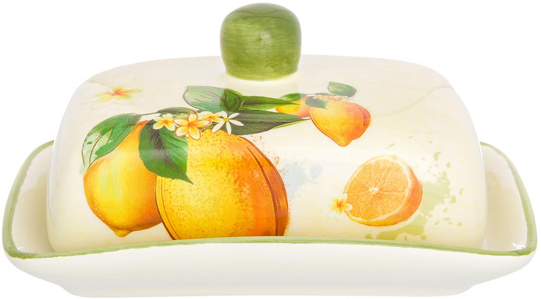 Масленка Elan Gallery Лимоны, 9 х 12,7 х 17,3 см720216Масленка Elan Gallery Лимоны выполнена из керамики и специально предназначена для хранения масла. Она сохранит его натуральный запах и насыщенный вкус при хранении в холодильнике. А на столе будет смотреться просто замечательно!