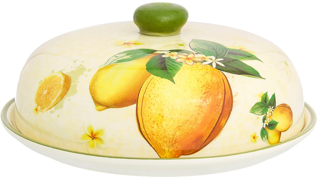 Блинница Elan Galler Лимоны, диаметр 23 см720219Блюдо для блинов Лимоны позволит красиво подать блины, а крышка не даст им остыть и обветриться. Блинница из коллекции Лимоны станет желанным подарком для любой хозяйки.