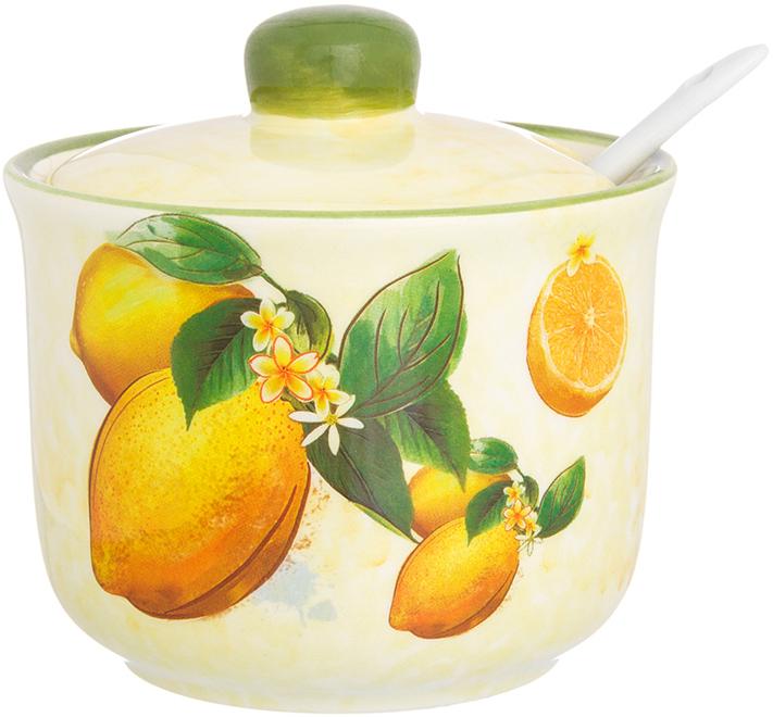 Сахарница Elan Gallery Лимоны, с ложкой и крышкой, 300 мл720232Великолепная сахарница Elan Gallery Лимоны, выполненная извысококачественной керамики, оформлена ярким изображением. К сахарнице прилагаетсякрышка и оригинальная ложка. Сахарница универсальна, подойдет не только для сахара, но и для меда, варенья, и для специй. Эксклюзивный дизайн и функциональность сахарницы сделает ее незаменимой налюбой кухне. Объем сахарницы: 300 мл.