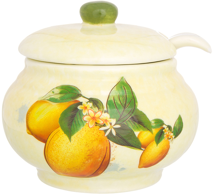 Сметанница Elan Gallery Лимоны, с ложкой и крышкой, 600 мл сахарница elan gallery лимоны с ложкой и крышкой 375 мл