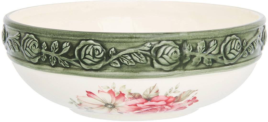 Салатник Elan Gallery Розы, 770 мл720273Великолепный салатник Elan Gallery Розы, выполненный из керамики, идеален для сервировки салатов. Вместительный салатник станет украшением для ваших блюд. Также может использоваться в качестве фруктовницы и конфетницы.