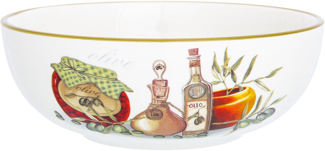 Салатник Elan Gallery Оливковое масло, 770 мл720278Великолепный салатникElan Gallery Оливковое масло, выполненный из керамики, идеален для сервировки салатов. Вместительный салатник станет украшением для ваших блюд. Также может использоваться в качестве фруктовницы и конфетницы.