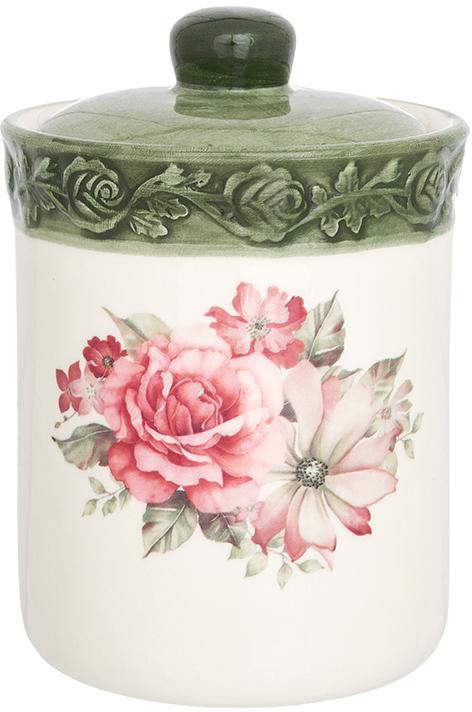 Банка для сыпучих продуктов Elan Gallery Розы, с крышкой, 530 мл720309Банка для сыпучих продуктов Elan Gallery изготовлена из прочной керамики высокого качества. Изделие оформлено красочным изображением. Гладкая и ровная глазурованная поверхность обеспечивает легкую очистку. Банка прекрасно подойдет для хранения различных сыпучих продуктов: специй, чая, кофе, сахара, круп и многого другого. В комплекте идет крышка, что помогает дольше сохранять свежесть продуктов.Яркий дизайн подарит вам хорошее настроение и украсит вашу кухню!